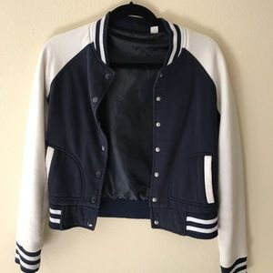 Feminine letterman jacket from Urban Outfitters